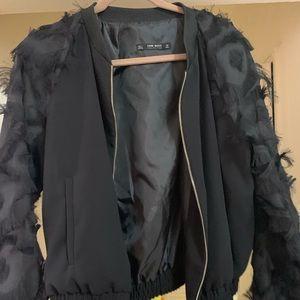 Zara jacket with feathers